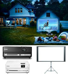 Epson projectors and projection screen