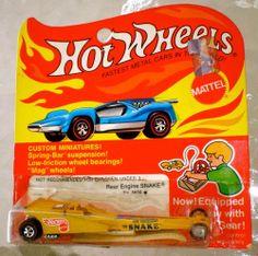 NHRA DON Snake PRUDHOMME 1:64 Diecast Hot Wheels REDLINE Dragster CIB 1971 RARE #HotWheels