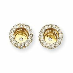 14k Yellow Gold 3 8 Carat Diamond Earring Jackets Bijou 654 01