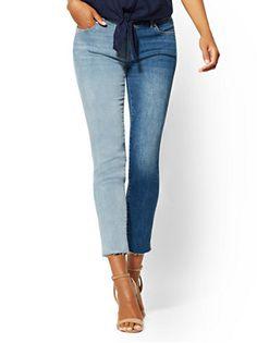 e9417e37d68 2-Tone Boyfriend Jeans - Blue Spirit- Soho Jeans