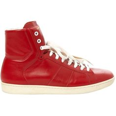 Pre-owned - Leather high trainers Saint Laurent EcXG72oo07
