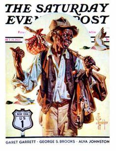 Saturday Evening Post - 1935-10-19: Southbound Hitchhiker (J.C. Leyendecker)