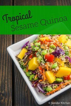 Healthy Tropical Sesame Quinoa and Vegetables