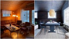– Kostnadene har vært så små at vi har ikke sett poenget med budsjett. Wooden Walls, Conference Room, Cabin, Ceiling Ideas, Furniture, Home Decor, Wood Walls, Loft Ideas, Homemade Home Decor