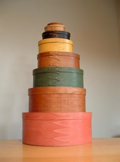 painted shaker boxes