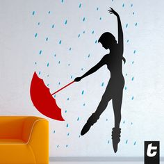 The beauty of dance. #InternationalDance #Dancing #Rain #ContemporaryDance #DancingInTheRain #Ballet #Female #Umbrella #Red #Black #Silhouette #Passion #DanceOrDie 8.64 €
