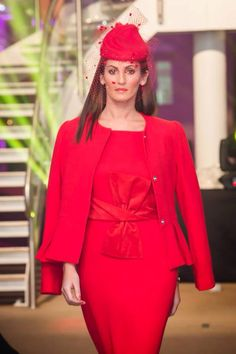Tres Chic # irishdesigner # Niamh O Neill @ Olivia Danielle ph Stylish Dresses, Lady In Red, Peplum Dress, Chic, Fashion, Madame Red, Shabby Chic, Moda, Elegant