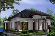 home decor ideas tips using house front elevation design single floor with house front elevation designs for single floor south facing for rural house plans nz Flat House Design, Bungalow Haus Design, Modern Bungalow House, Rural House, House Front Design, Modern Mansion, Modern House Plans, Modern House Design, Style At Home