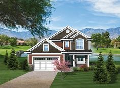 Craftsman House Plan with 1612 Square Feet and 3 Bedrooms from Dream Home Source | House Plan Code DHSW076020