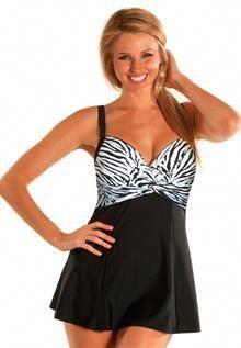 3a77521324feb Twist Front Swimdress Plus Size   Swimwear for Women