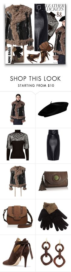 """Minibags & Leather Jackets For November Weekends"" by ragnh-mjos ❤ liked on Polyvore featuring Diesel, Pinko, Mackage, Jimmy Choo and NEST Jewelry"