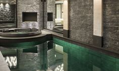 The stunning swimming pool at Chalet La Colombe in Courchevel 1850 - by SkiBoutique Courchevel 1850, Ski Chalet, Indoor Swimming Pools, Jacuzzi, Skiing, Luxury, Baths, Home, Design