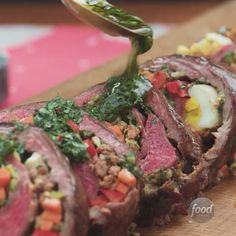 Recipe of the Day: Matambre with Chimichurri Sauce [link in bio]
