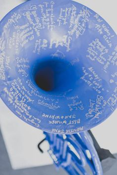 How I Met Your Mother Blue French Horn Wedding Guestbook!; Adorable idea! Put it over the fireplace.