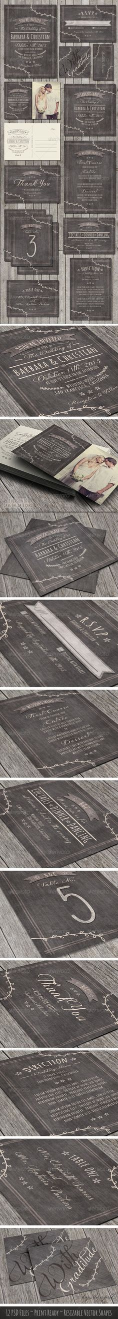 PSD Rustic Wedding Pack  Template • Only available here ➝ http://graphicriver.net/item/rustic-wedding-pack/7813449?ref=pxcr