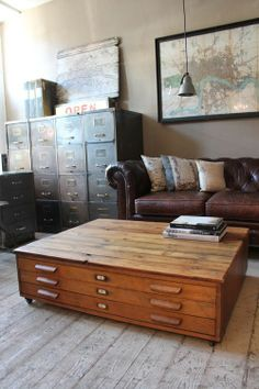 Love the table and filing cabinets