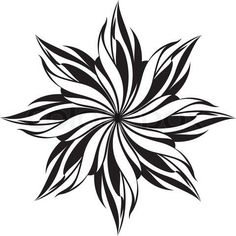 Flower Design Pattern Black And White