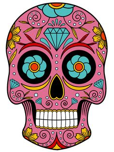 Caveiras wallpaper - search result: 176 cliparts for caveiras wallpaper Sugar Skull Mädchen, Sugar Skull Artwork, Sugar Skull Makeup, Sugar Skull Tattoos, Sugar Skull Images, Mexican Skull Tattoos, Sugar Skull Design, Candy Skulls, Mexican Skulls