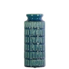 Urban Trends Collection Blue Coated Finish Ceramic Decorative Vase-46303 - The Home Depot