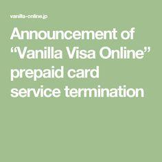 vanilla visa online
