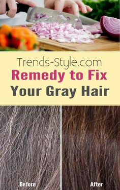 Greying hair can be a real bummer, and hair dyes are expensive and can cause your hair to dry out. This potent remedy using onions work to promote catalese production and help to restore your natural hair color.