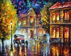 Original Recreation Oil Painting on Canvas This is the best possible quality of recreation made by Leonid Afremov in person.  Title: Altar Of