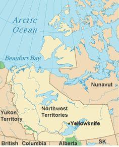 nunavut northwest territories map