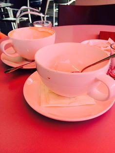 Zwischenstopp in Ingolstadt - ein leckerer Milchkaffee