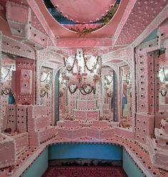 Break Bread LA--An art gallery transformed into a cake castle.