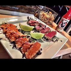 Surf & Turf  #tataki #salmon #beef #chipotle #maple #chili #lime #food #foodporn #foodie #masterchef by firebarnshotsauce