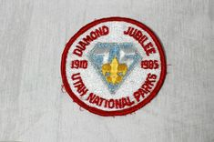 75th Anniversary Diamond Jubilee Boy Scouts of America Utah National Parks Patch