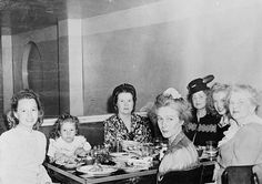 Norma Jeane Baker, future film star Marilyn Monroe at a Chinese restaurant with members of her family, circa 1942