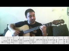 Tutorial: Autumn Leaves - Fingerstyle Guitar + Walking Bass - w/ TAB - YouTube
