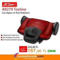 Arzum'dan evinize bir yardımcı daha.. Hem Tost hem Izgara olarak kullanabileceğiniz Arzum AR279 Tostino tam size göre..