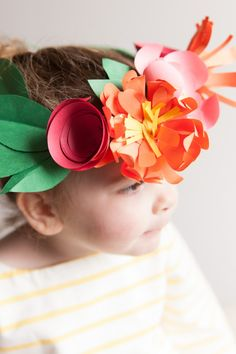 paper flower crowns - the perfect party craft activity or accessory for your little ones
