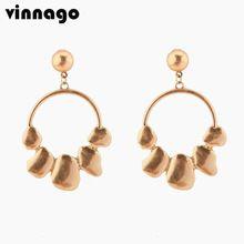 2018 Fashion Boho Big Statement Dangle Drop Earrings For Women Modern  Simple Gold Color Long Earrings Female Jewelry Gift 950da4a27b68
