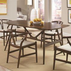 Coaster Weller Modern Solid Wood Rectangular Dining Table - Jack's Warehouse