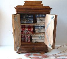 Vintage French miniature cupboard Doll house by CabArtVintage