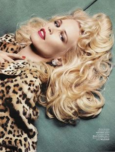 Claudia Schiffer - animal print