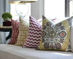 pillows - I intend to make them for my family room and bedroom!