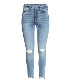 Skinny High Ankle Jeans   Licht denimblauw   Dames   H&M NL