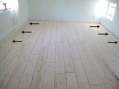 A Newbie's Guide to Plywood Plank Flooring: Prepping and Laying the Boards - Shark Tails Part 1 another very good DIY On plank floors. GOod info on sanding the boards a nice before and after shot of that. Plywood Plank Flooring, Basement Flooring, Diy Flooring, Hardwood Floors, White Flooring, Terrazzo Flooring, Ply Wood Flooring, Stone Flooring, Bathroom Flooring