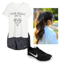 """""""Cheer Clinic"""" by haley-grace-brand on Polyvore featuring NIKE and WithChic"""