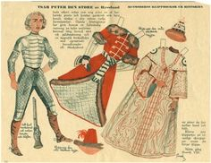 Tsar Peter the Great (1762-1796) / House Mother's Cut-Out Dolls From History / Swedish paper dolls