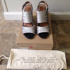 Joie wedges Super cute used maybe 4 times still in great shape comes with dust bag trade 150 Joie Shoes Wedges