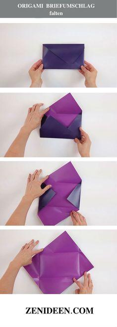 Origami falten Briefumschlag basteln