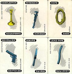 Clue Weapons: Idea for door tags!
