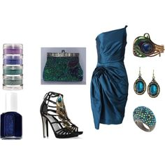 Formal Peacock outfit...Could someone please have an event I can wear this to!   created by tasha-welch-dunaway on Polyvore