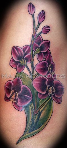 orchid flowerstattoos orchid flower is one of the most popular tattoo designs for women. Black Bedroom Furniture Sets. Home Design Ideas
