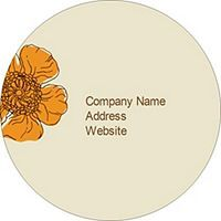 """Templates - Simple Garden 2.5"""" Round Labels, 9 per sheet 